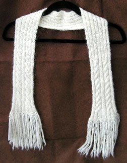 Jacobs wool knit cable scarf
