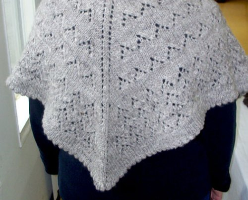 Home Grown, Hand Spun, Hand Knit Shawl