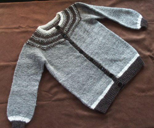Home Grown, Hand Spun, Hand Knit, commissioned sweater